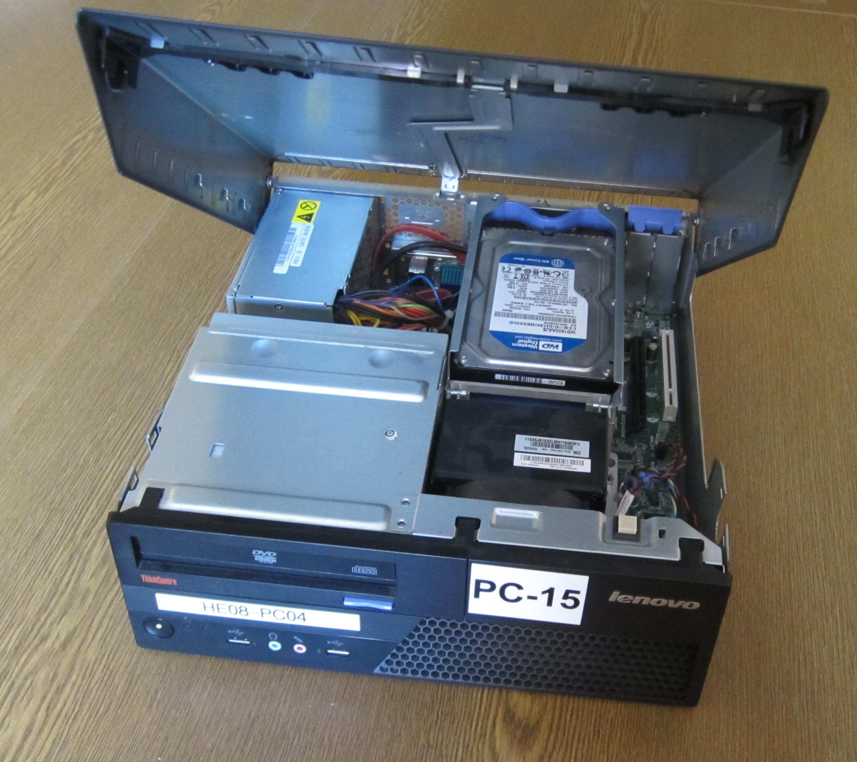 Geöffneter PC