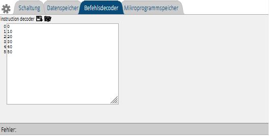 Befehlsdecoder: Tabelle