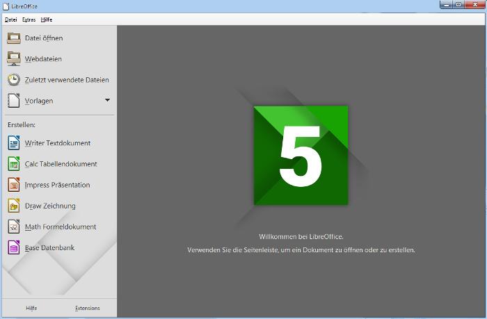 start-Bildschirm