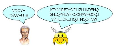 Asterix: VDOYHDVWHULA; Caesar: KDOORFDHVDUZLUKDEHQGHLQYHUVFKOXHVVHOXQJVYHUIDKUHQJHNQDFNW