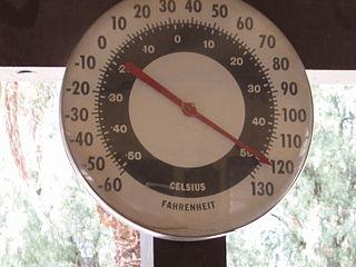 Thermometer im Death Valley zeigt 119° F