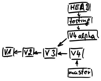 Diagramm zu branch forked